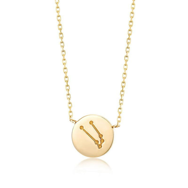 Taurus Pendant Zodiac Dainty Necklace in 14K Gold Factory Wholesale R2N3G11048