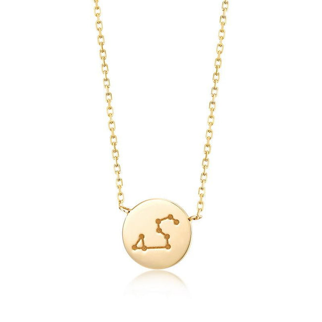 Leo Pendant Zodiac Dainty Necklace in 14K Gold Factory Wholesale R2N3G11058