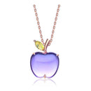 Natural Amethyst Peridot Apple Pendant Dainty Necklace Charm in Sterling Silver (No Chain) Factory Wholesale R2N3S21005