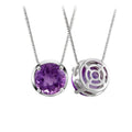 Natural Amethyst Pendant Dainty Necklace in Sterling Silver Factory Wholesale R2N3S21006