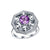 Real Amethyst Cubic Zirconia Accent Snowflake Ring in Sterling Silver Factory Wholesale R2R1S21007