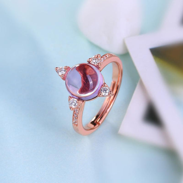 Genuine Amethyst Cubic Zirconia Accent Star Adjustable Ring in Sterling Silver Factory Wholesale R2R1S21012