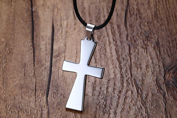 White Tungsten Cross Pendant Lord's Prayer Necklace For Men Women Wholesale - Ables Mall