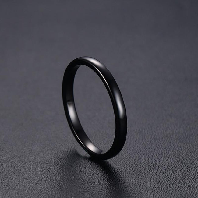 High Polished Tungsten Wedding Band Classic Engagement Ring Wholesale 2mm - Ables Mall
