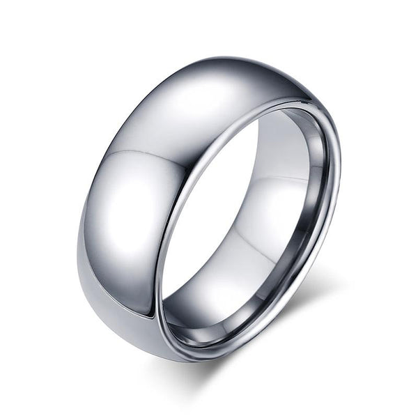 High Polished Tungsten Engagement Band Mens Wedding Ring Wholesale - Ables Mall