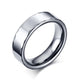 White Tungsten Patterned Rims Engagement Ring Wedding Band Wholesale 6mm
