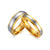 Two Tone Gold Tungsten Engagement Band Couple Ring Wholesale Plated 4mm 6mm - Ables Mall