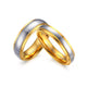 Two Tone Gold Tungsten Wedding Band Couple Ring Wholesale Plated 4mm 6mm
