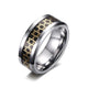 White Tungsten Hexagram Engagement Band Graphite Ring Wholesale 8mm