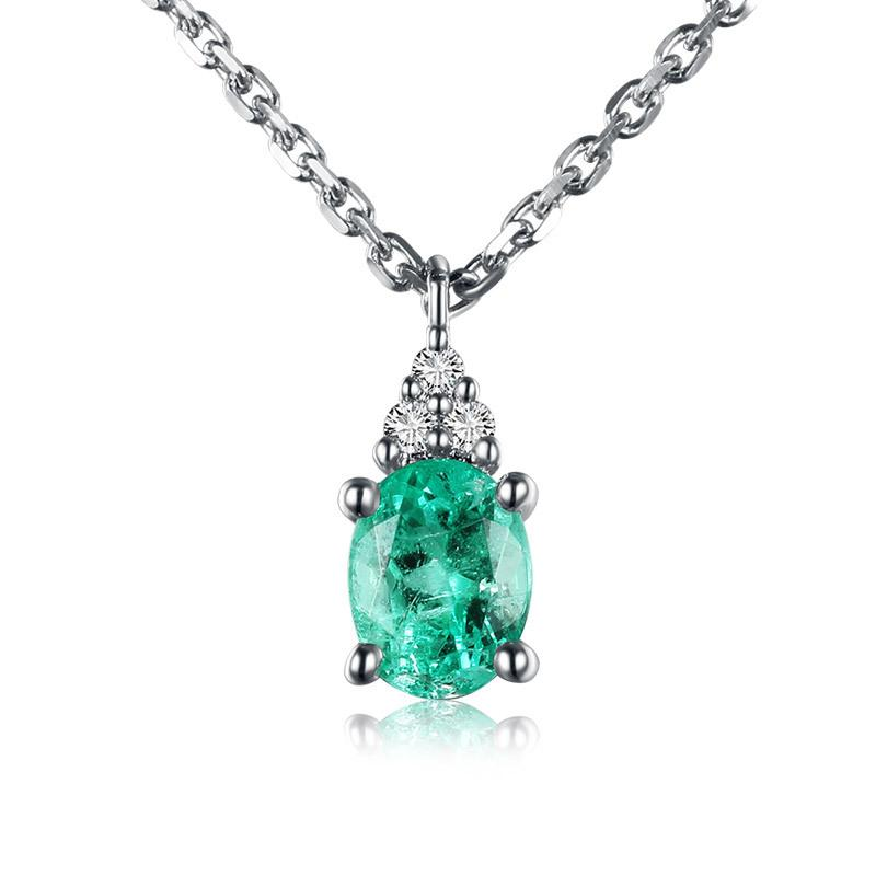 solid rose beauty diamond natural necklace product cut gold pendant emerald detail