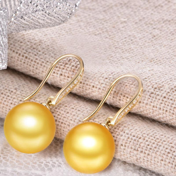 Cubic Zirconia Paved Fishhook Gold Earring Setting Findings for Pearl Factory Wholesale Z6F5EG11005