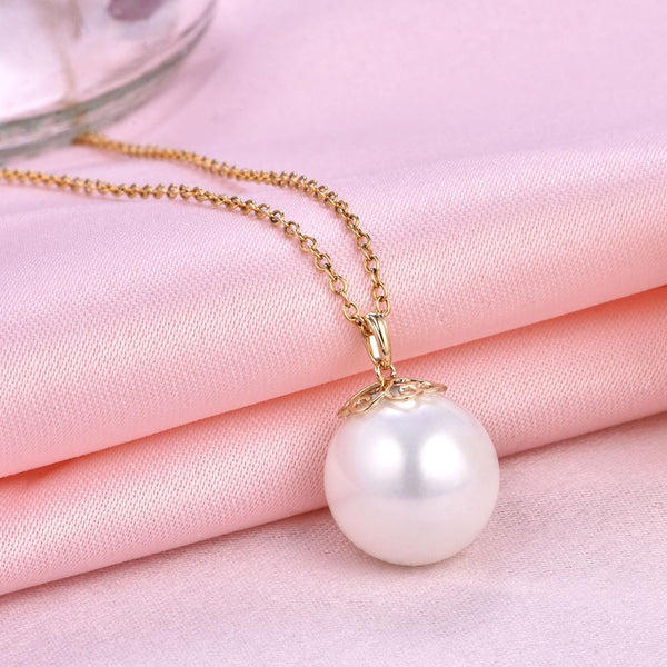Filigree Cap Gold Pendant Setting Findings for Pearl Factory Wholesale Z6F5PG11001