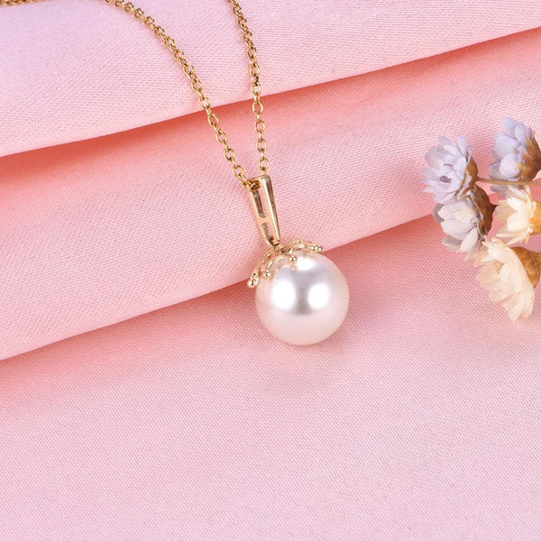 Gold Pendant Setting Flower Bail Findings for Pearl Factory Wholesale Z6F5PG11005