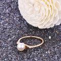 Solid Gold Petals Ring Setting Findings for Pearl Factory Wholesale Z6F5RG11006