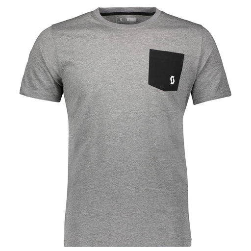 SCOTT Tee 10 Mens Casual Heath Grey T-Shirt