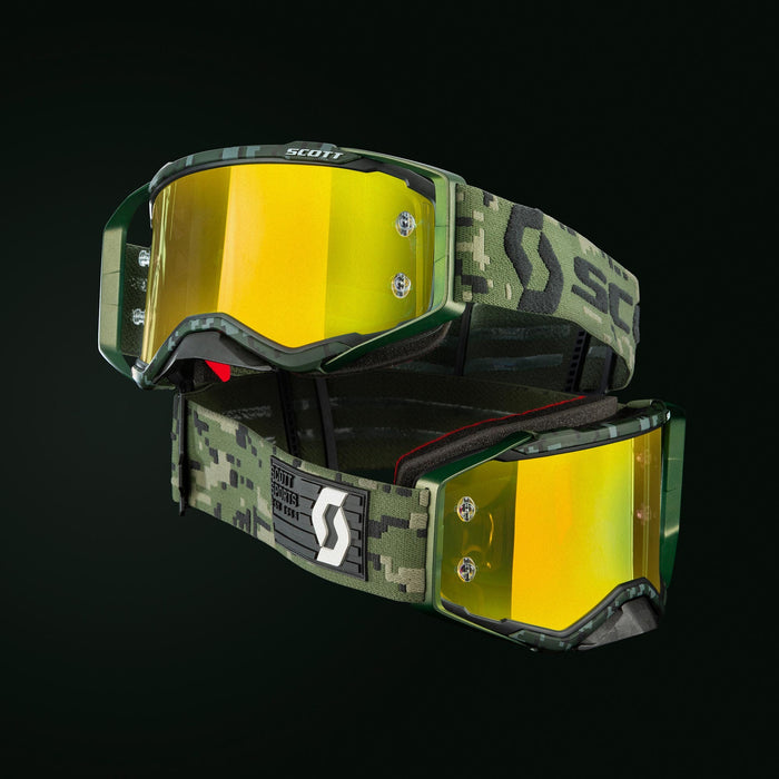 2020 SCOTT Prospect Goggle Kaki Green Yellow Chrome Lens