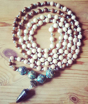 Mala Statement Bead Necklace Woven Trends