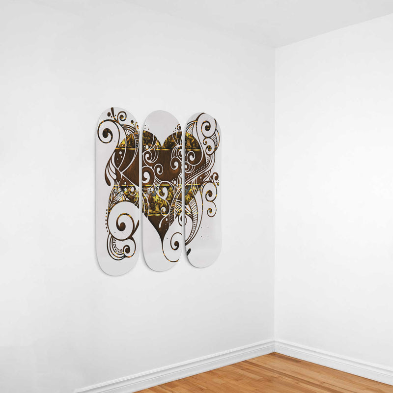 Gears and Heart Skateboard Wall Decor - Woven Trends
