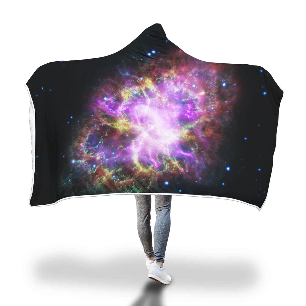 Crab Nebula Stary Hooded Blanket Woven Trends