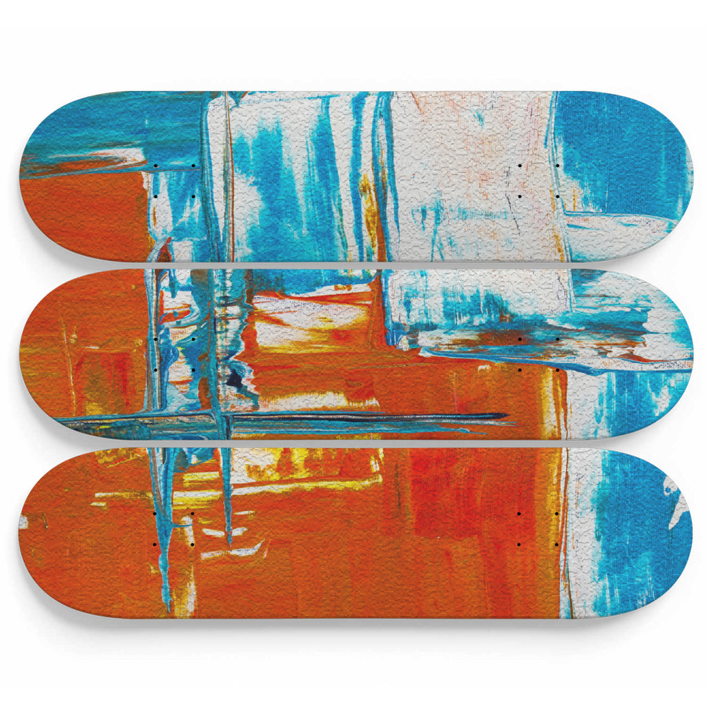 Oil Effect Abstract Art Skateboard Decoration - woven-trends