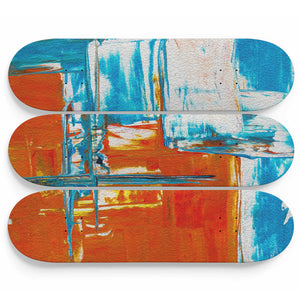 Oil Effect Abstract Art Skateboard Decoration - Woven Trends