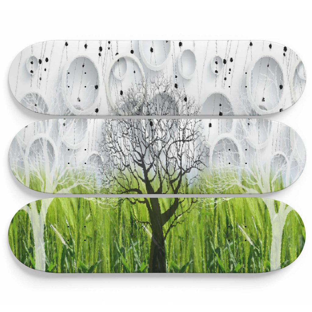 Trees of Avalon Glass Effect Wall Art - woven-trends