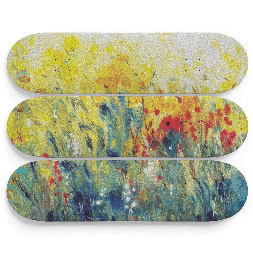 Wild Marsh Flower Skateboard Wall Decor - woven-trends