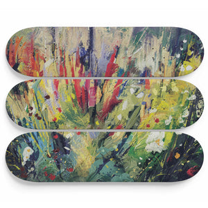 Abstract Wildflower Skateboard Wall Decoration - Woven Trends