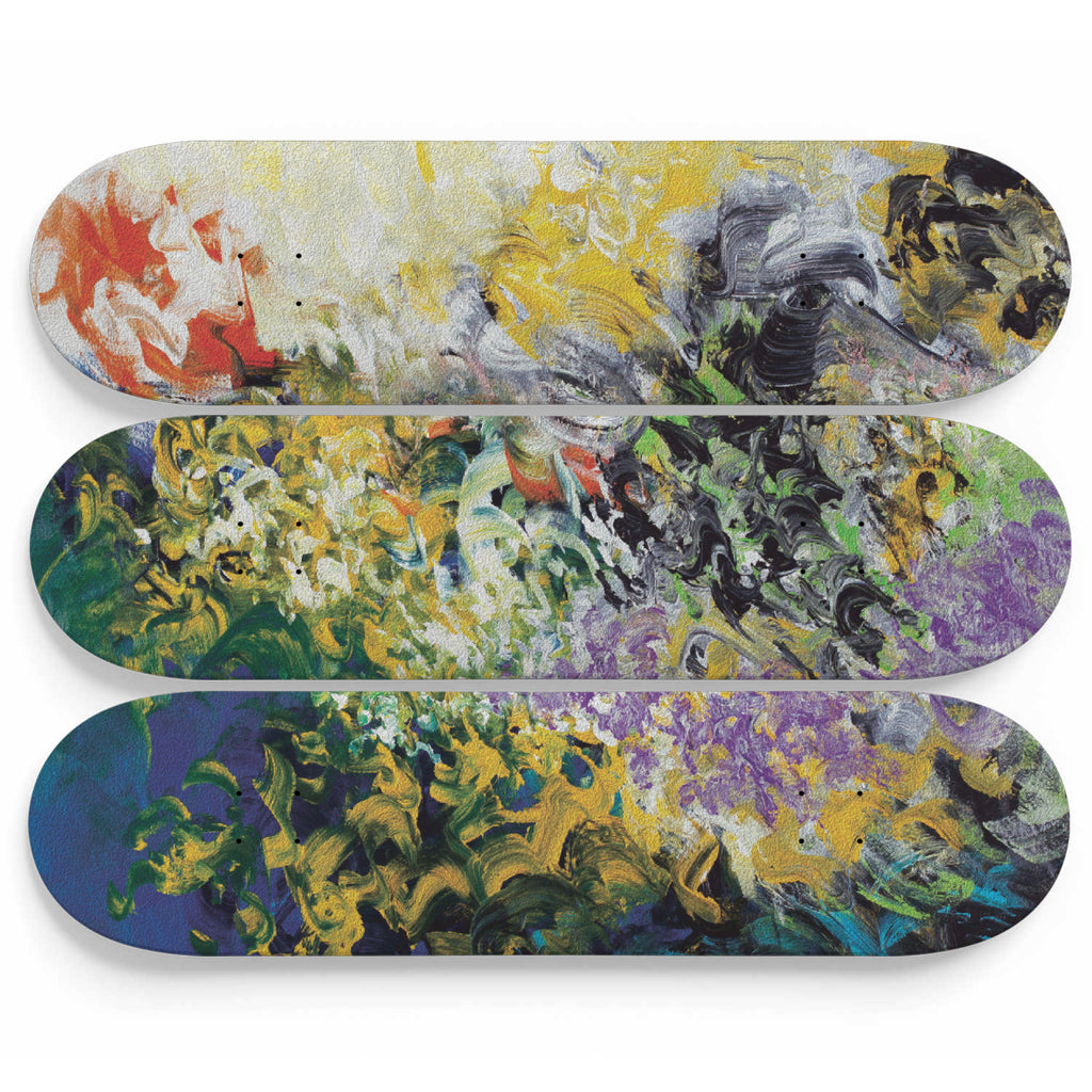 Waves of Calm Waters Abstract Skateboard Decor
