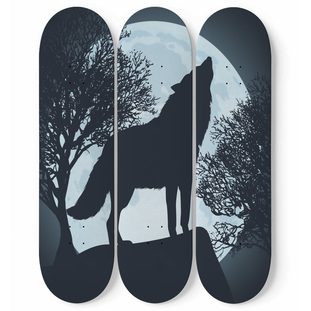Howl of The Lone Wolf Skateboard Art Decor - woven-trends