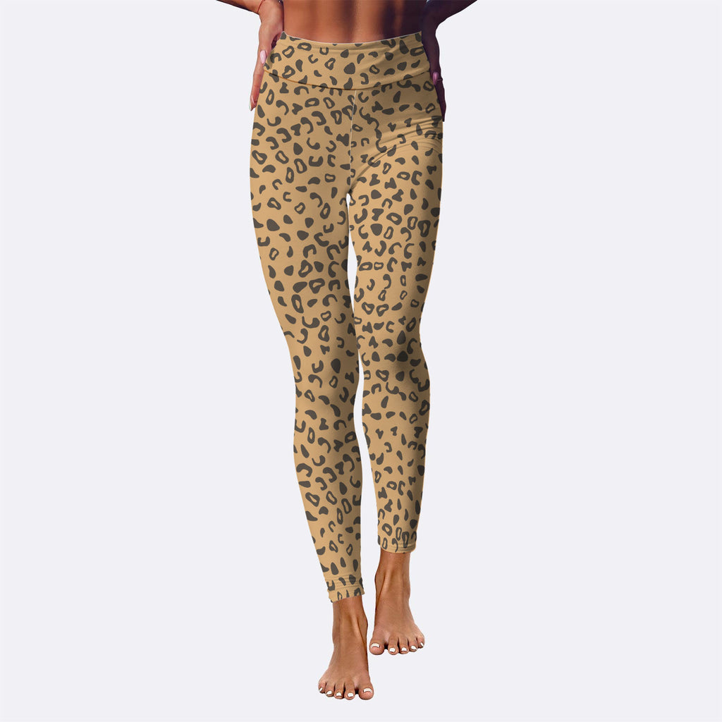 Janelle Leopard Print Premium Workout Leggings