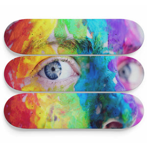 Face Painting Skateboard Art - Woven Trends