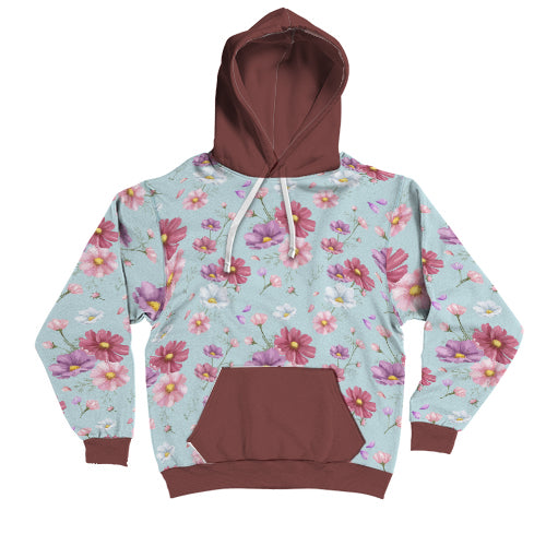Lilah Floral Customised Design AOP Boyfriend Hoodie - woven-trends