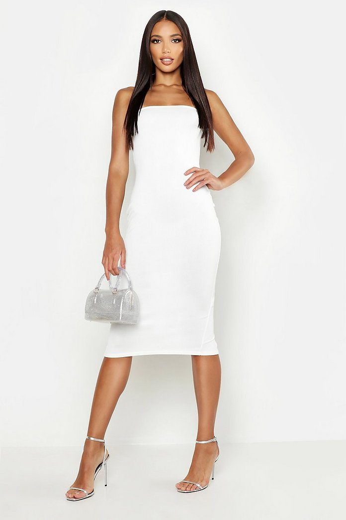 Mina Bandage Style Midi Dress-Woven Trends