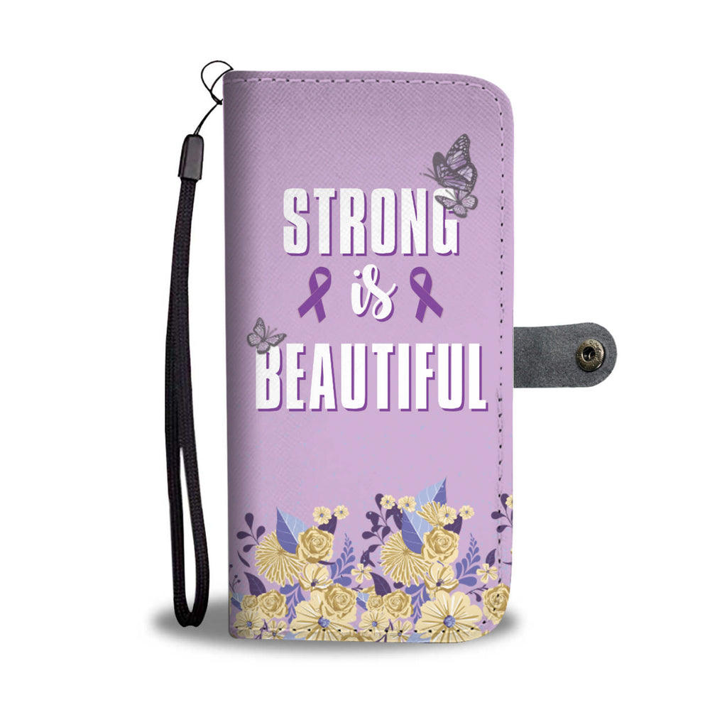 Strong Is Beautiful PU Leather Wallet Phone Case - Woven Trends