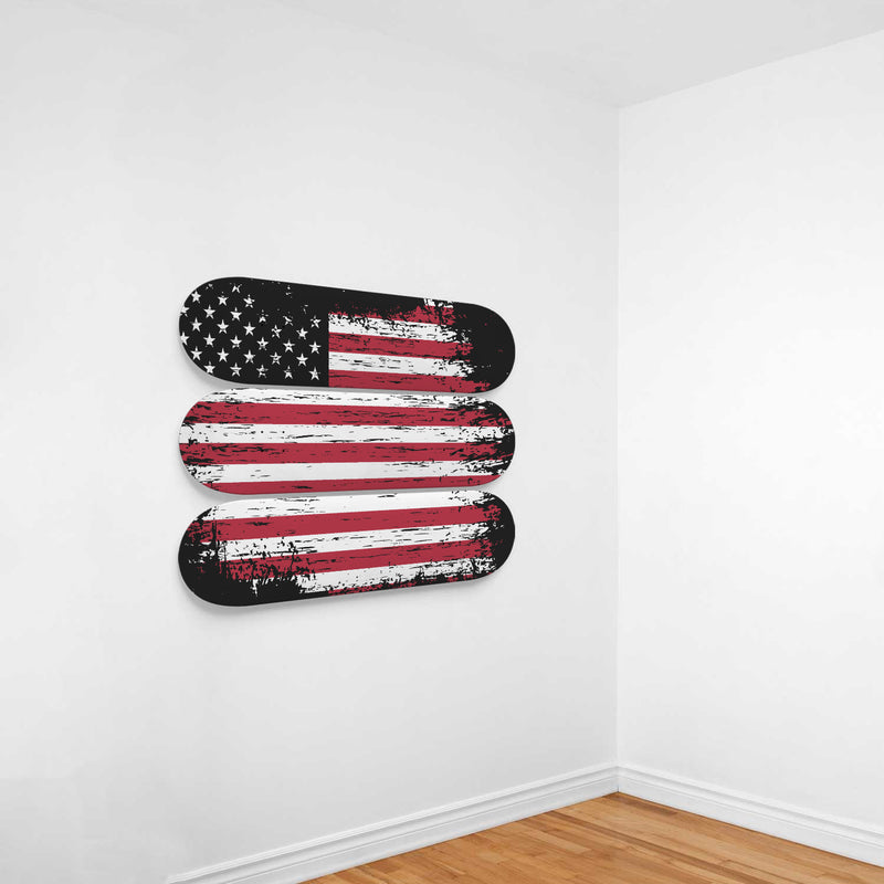 Old Glory Patriots Stars and Stripes Skateboard Art Decoration - Woven Trends