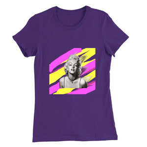 Marilyn Monroe Smudge Print Round Neck T-Shirt - Woven Trends