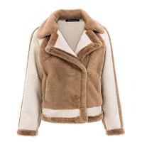 Faux Fur Soft Spliced Plush Jacket Woven Trends