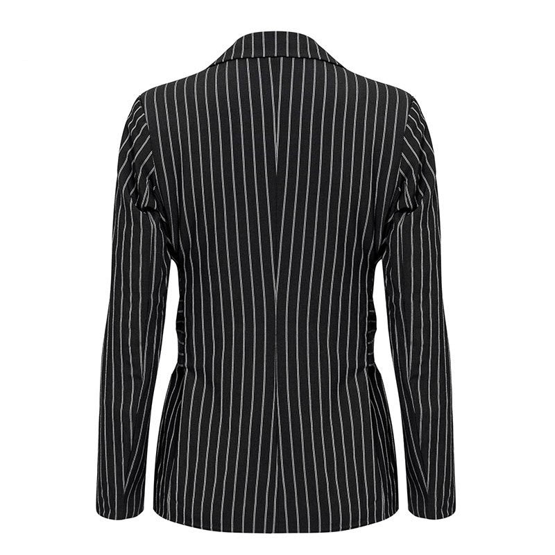 Elegant Office Lady Blazer With Turn Down Collar Woven Trends
