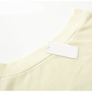 Chic Girl Underarm Single Sleeve Off Shoulder Pullover Sweater - woven-trends