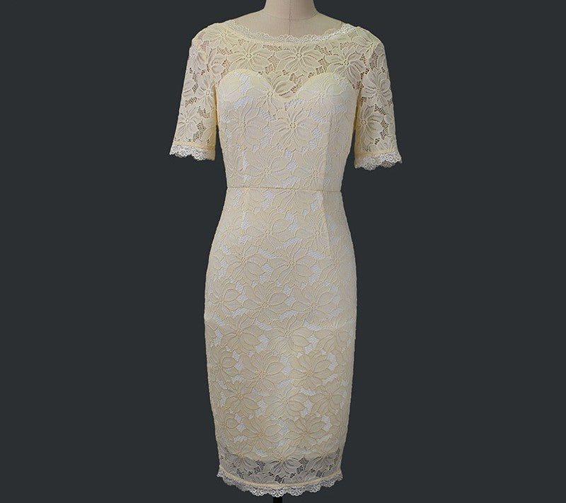 Floral Lace Wedding Cocktail Dress Woven Trends