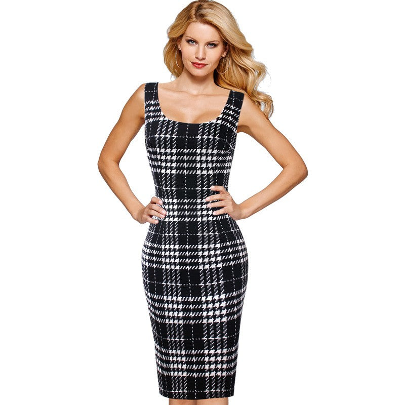 Ariana Sleeveless Square Neck Printed Midi Dress Woven Trends