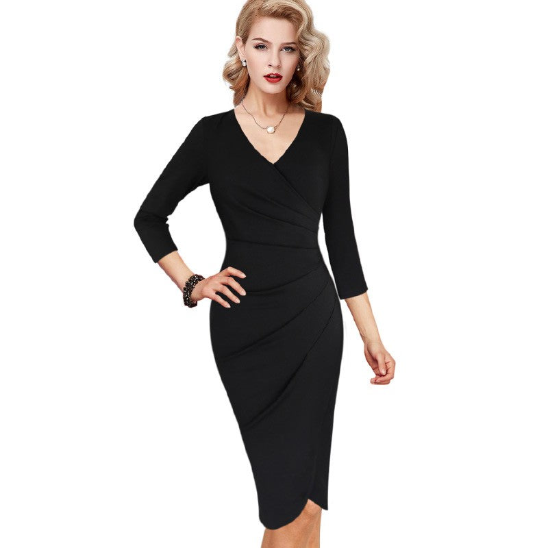 Miranda Sexy V Neck Wrap Dress