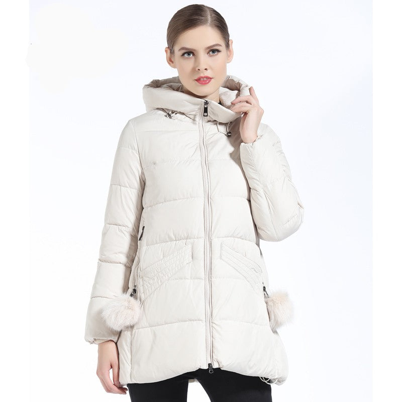 Laura Hooded Fashion Down Parka Coat - woven-trends