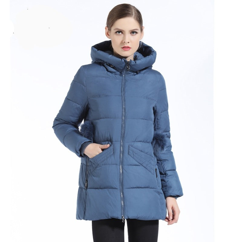 Laura Hooded Fashion Down Parka Coat