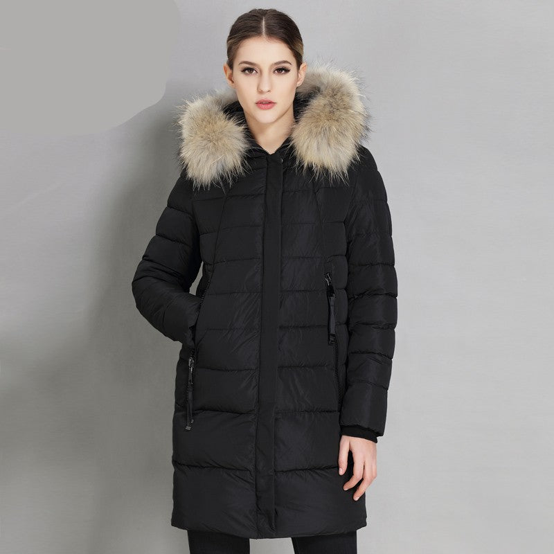 Laura Hooded Parka Fur Jacket - woven-trends
