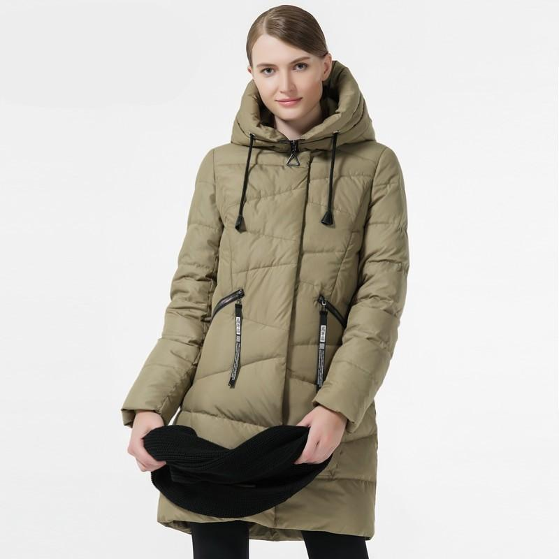 Charlotte Long Bio Down Hooded Parka Woven Trends