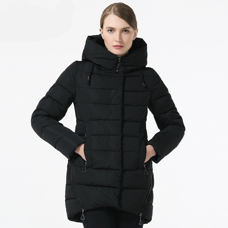 Stacy Down Hooded Parka Overcoat - woven-trends