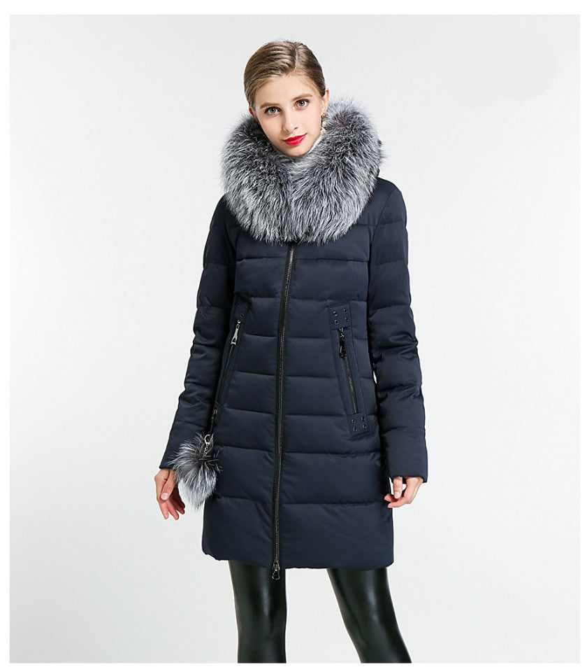 Sabina Hooded Thick Coat Parka Jacket - woven-trends