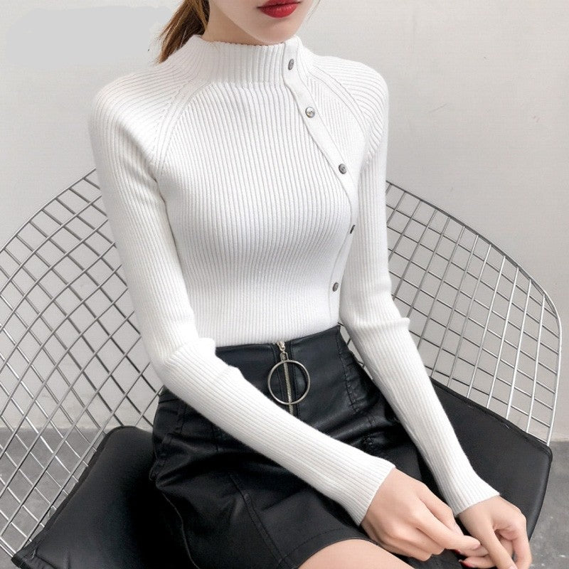Sabina Turtle Neck Knitted Sweater Top